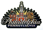 Philadelphia Pennsylvania Sunburst Fridge Magnet Design 27