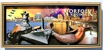 Norfolk Virginia Artwood Fridge Magnet Design 27