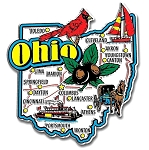 Ohio Jumbo Map Fridge Magnet