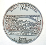 West Virginia State Quarter Fridge Magnet Design 13