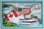 Niagara Falls Maid of the Mist Cartoon Fridge Magnet Design 27