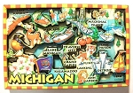 Michigan Cartoon Map Fridge Magnet Design 27