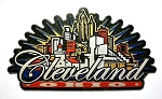 Cleveland Ohio Sunburst Fridge Magnet Design 27