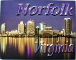 Norfolk Virginia Night Scene Highlight Fridge Magnet Design 10