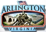 Arlington Virginia Artwood Fridge Magnet Design 27