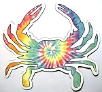 Maryland Crab Shaped Tie Dye Car Magnet Design 10