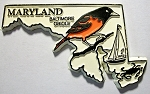 Maryland with Oriole Fridge Magnet Design 1