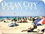 Ocean City Maryland Beach Fridge Magnet