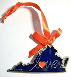 Virginia Love Metal Christmas Tree Ornament Design 10