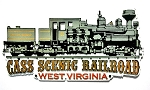 Cass Scenic Railroad West Virginia Shay Locomotive Fridge Magnet Design 27