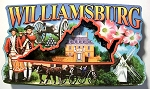Willamsburg Virginia Artwood Fridge Magnet Design 27