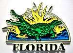 Florida with Gator 5 color Fridge Magnet Design 1