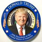 Donald Trump 45th President of the United States Artwood Fridge Magnet Design 26