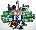 Delaware Street Signs Fridge Magnet Design 27