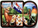 Missouri Initial Artwood Fridge Magnet Design 19