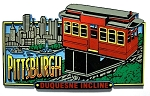 Pittsburgh Pennsylvania with Duquesne Incline Fridge Magnet Design 30