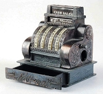 Old Time Cash Register Die Cast Metal Collectible Pencil Sharpener Design 1