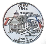 Iowa State Quarter Fridge Magnet