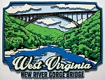 New River Gorge Bridge Fridge Magnet Design 25