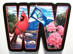 West Virginia The Mountain State Artwood Initial Fridge Magnet Design 19