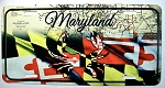 Maryland Flag Design with Crab License Plate Design 25