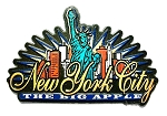 New York City The Big Apple Sunburst Fridge Magnet Design 27