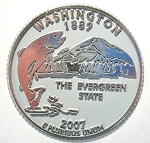 Washington State Quarter Fridge Magnet Design 13