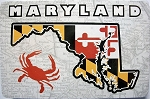 Maryland Flag Design with State Outline and Crab Souvenir Playing Cards Design 10