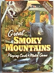 Great Smoky Mountains with Blackbear Playing Cards Design 1