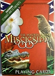 Mississippi with Gator Souvenir Playing Cards Design 1