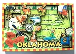 Oklahoma Cartoon Map Fridge Magnet Design 27