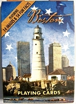 Boston Massachusetts Lighthouse Souvenir Playing Cards Design 1