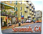 Savannah Georgia River Street Highlight Fridge Magnet Design 10
