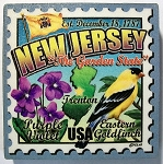 New Jersey Postage Stamp Artwood Fridge Magnet Design 28