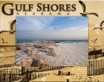 Gulf Shores Alabama Laser Engraved Wood Picture Frame