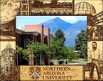 Northern Arizona University Engraved Wood Picture Frame (5 x 7)