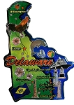 Delaware the First State Decowood Fridge Magnet