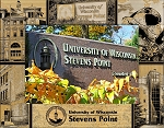 University of Wisconsin Stevens Point Laser Engraved Wood Picture Frame (5 x 7)