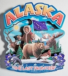 Alaska Montage Artwood Fridge Magnet Design 16
