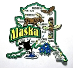 Alaska Jumbo Map Fridge Magnet Design 9