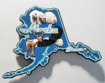 Alaska Multi Color Fridge Magnet Magnet Design 18