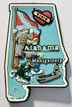 Alabama Multi Color Fridge Magnet Design 18