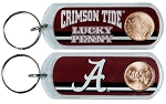 Alabama Crimson Lucky Penny Keychain-NCAA