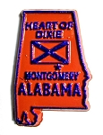 Alabama State Outline Fridge Magnet Design 1