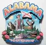 Alabama Montage Artwood Fridge Magnet