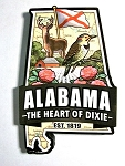 Alabama Classic Artwood Jumbo Fridge Magnet Design 12