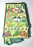 Alabama State Outline Artwood Jumbo Fridge Magnet Design 12