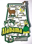 Alabama Jumbo Map Fridge Magnet Design 9