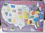 All 50 State Magnets Plus Puerto Rico and Washington D.C. Magnet Board Not Included Design 1