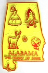Alabama Fridge Magnet Design 2